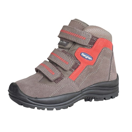 Chaussures Berghen arcadia velcro piovra/rosso 29-35