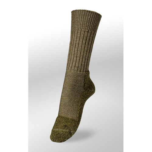 Chaussettes Veith strong olive merinos