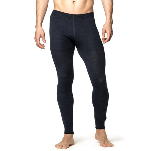 Collant woolpower unisexe long johns 200 noir merinos