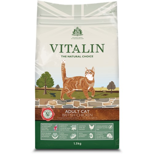 Aliment pour chat Vitalin adult poulet 1,5kg