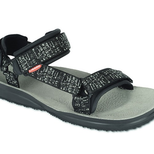 Sandales Lizard super hike map grey